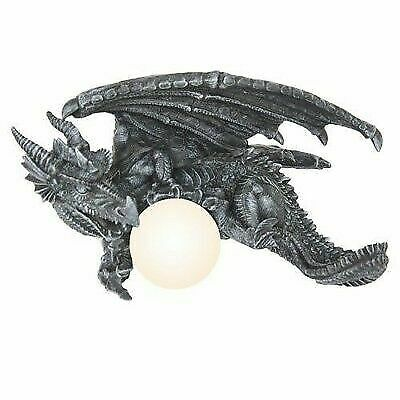 the latest 41f9d b341c Gothic Elder Dragon Head Mounted Wall Lamp Home Decorative Stonelike Statue  for sale online | eBay