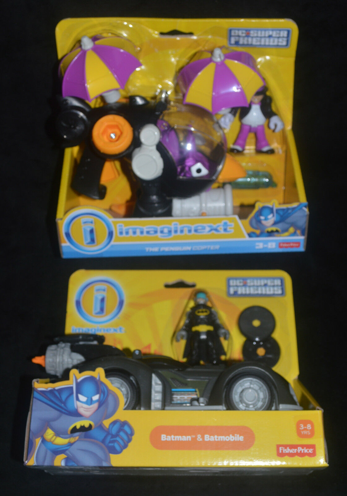 PENGUIN COPTER & BATMOBILE w Exclusive Batman Figure Imaginext MIP