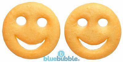 Bluebubble AMERICAN DINER Smiley Face Keyring Novelty Junk Food Kitsch Kawaii
