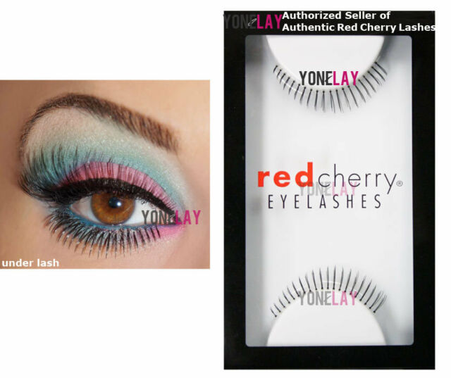 0447940a613 Pick 3 Pairs GENUINE RED CHERRY Human Hair False Eyelashes Black Strip  Lashes for sale online