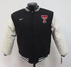 0bc1d582b09 TEXAS TECH RED RAIDERS NIKE REVERSIBLE WOOL LEATHER JACKET (16-18 ...