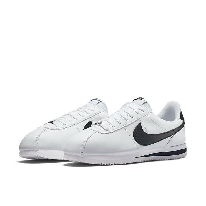 New Nike Original Cortez Leather 819719-100 White   Black shoes Men