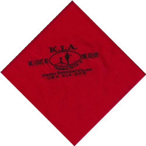 Killed in Action Large Red Biker/'s Hanky KIA