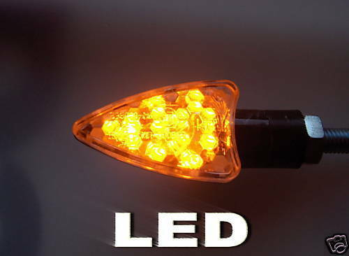 ►2X LED  SCHWARZ ARROW KLARGLAS MINIBLINKER E-MARK KTM 505 SX-F,520 EXC,MXC,SX