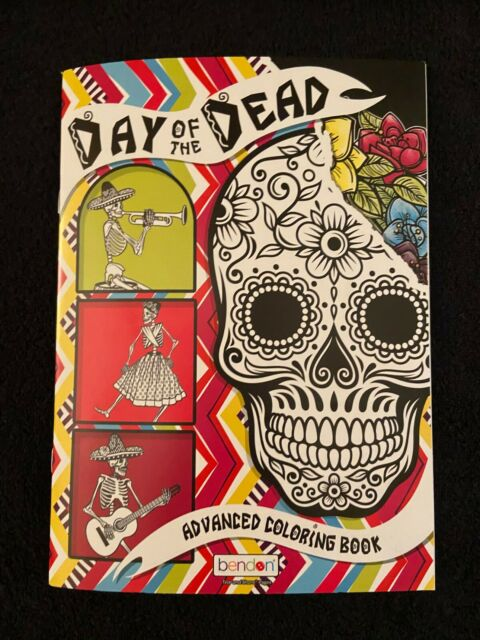 - 2 Day Of The Dead Sugar Skull Coloring Book By Monika Mira (p For Sale  Online EBay