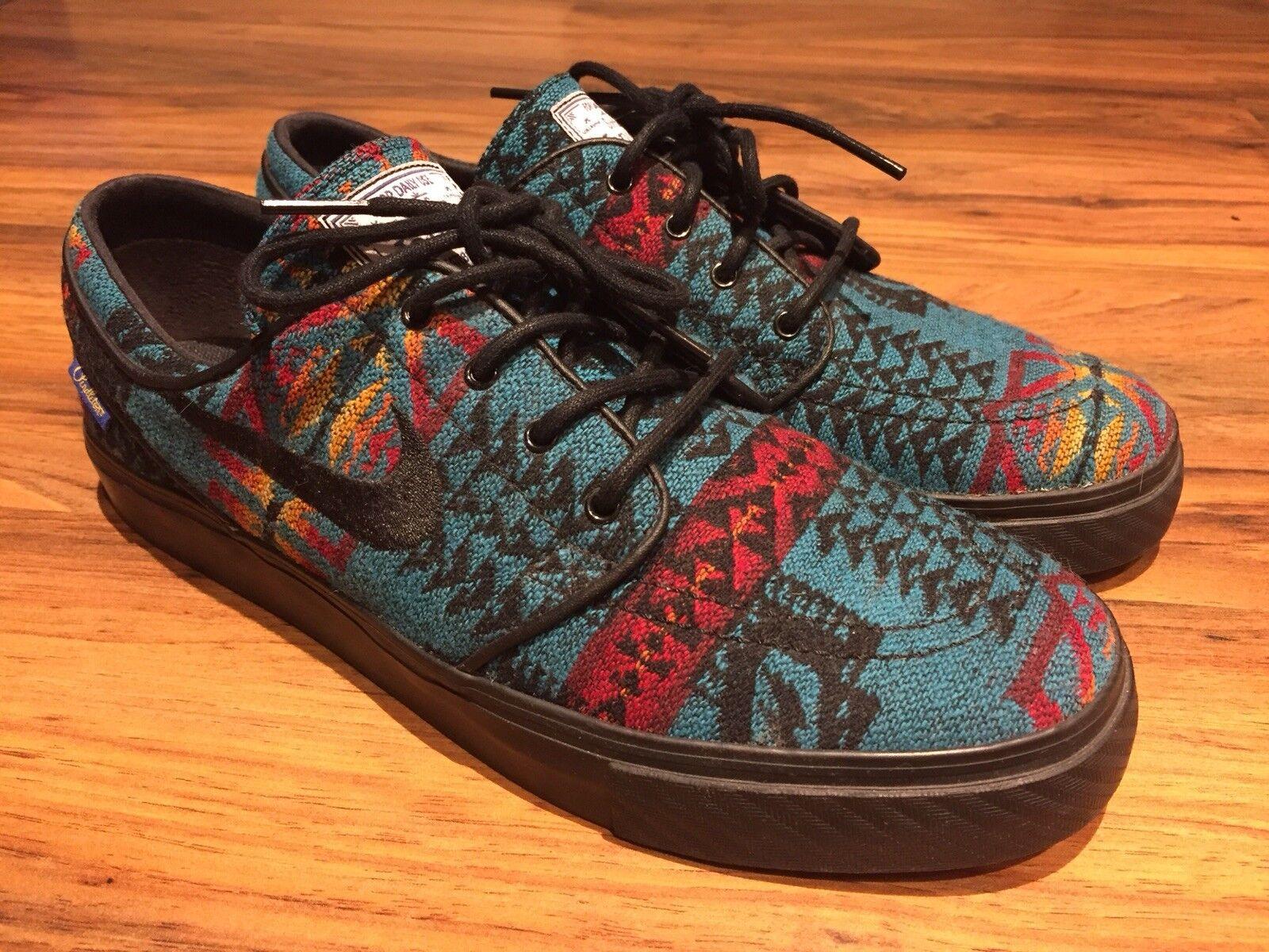 Nike SB Janoski shoes PENDLETON Woolen Mills Fabric Mens Size 8