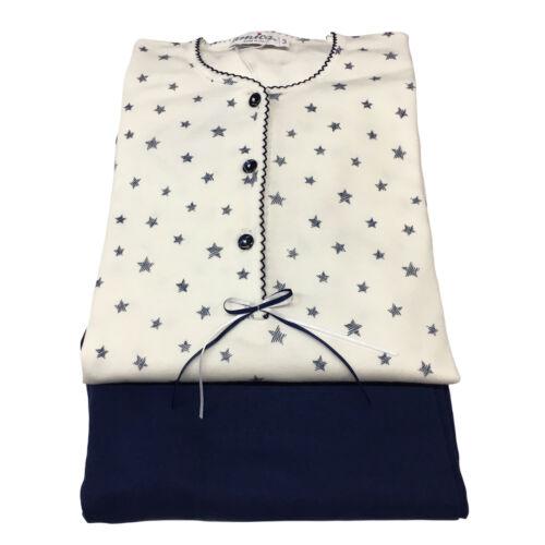 Pyjama Blanc Made Italy Interlok Amica Femme Coton 100 bleu In pTWdw
