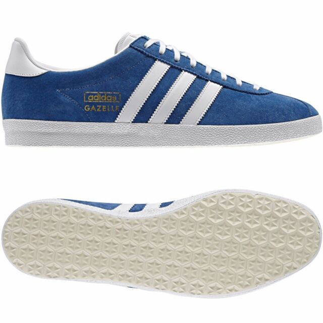 best sneakers 4bd8e 9a3d9 adidas Gazelle OG Mens Trainers Airforce Blue white UK 9 EU 43.3 ...