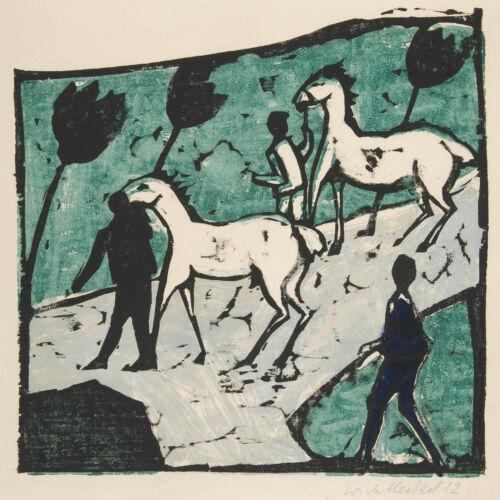 Weisse Pferde White Horses Erich Heckel Reproduction Fine Art Print