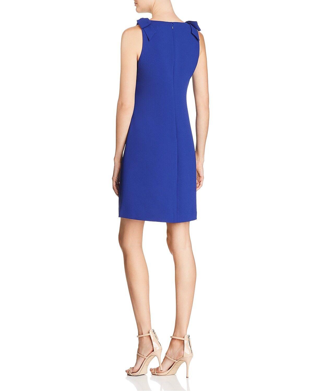 ELIZA J J J BOW DETAIL COBALT blueE SHIFT  DRESS sz 10 08461d