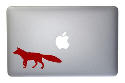 5 Inch Burgundy Vinyl Decal for Macbook Laptop Running Fox