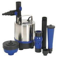Sealey Submersible Pond Pump Stainless Steel 3600ltr/hr 230v Wpp3600s