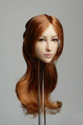 """【IN STOCK】1//6 Asian Female Head Sculpt B Movable Eyes For 12/""""  PALE PHICEN Body"""