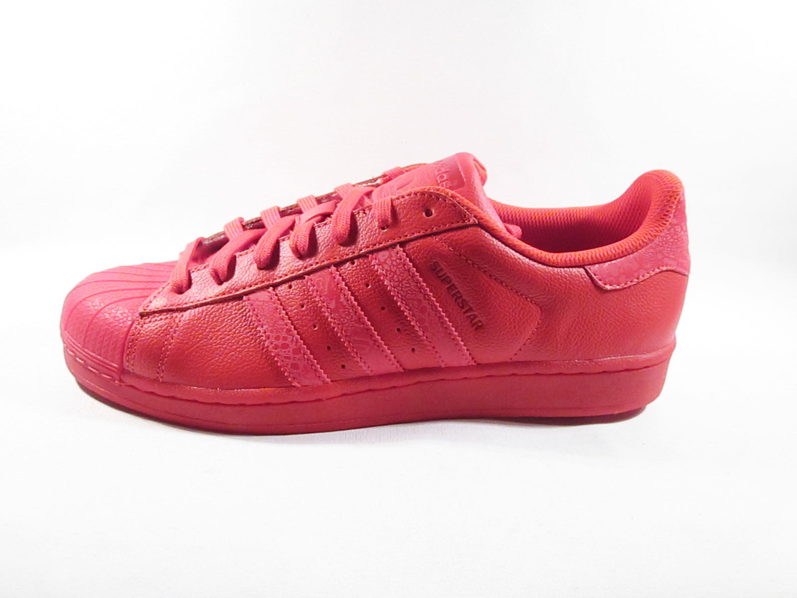 ORIGINAL ADIDAS SUPERSTAR RED LEATHER REFLECTIVE TRAINERS S75538
