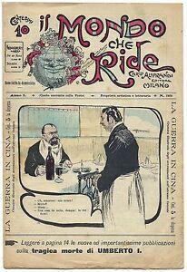 SATIRA-UMORISMO-Il-Mondo-che-Ride-Anno-I-N-33-Ed-Aliprandi-1900-vedi-gt-gt-gt