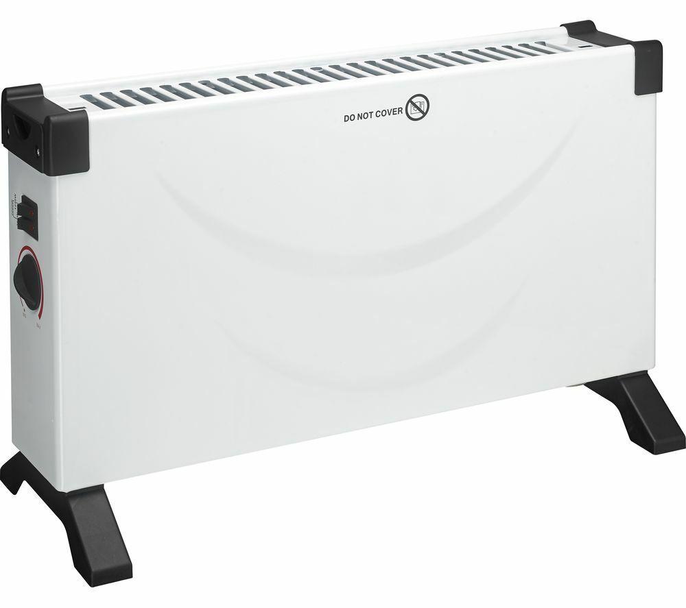 ESSENTIALS Portable Convector Heater – White & Black £11.99 @ Currys Ebay