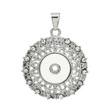 NEW  Crystal Alloy Pendant for Fit Noosa Necklace Snap Chunk Button A293