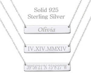 925-Sterling-Silver-Personalized-Name-Bar-Necklace-Custom-Engraved-Name-or-Date