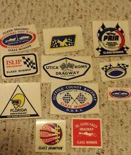 Lot of 1970's Vintage Race Car Drag Strip Class Winners Window Decals