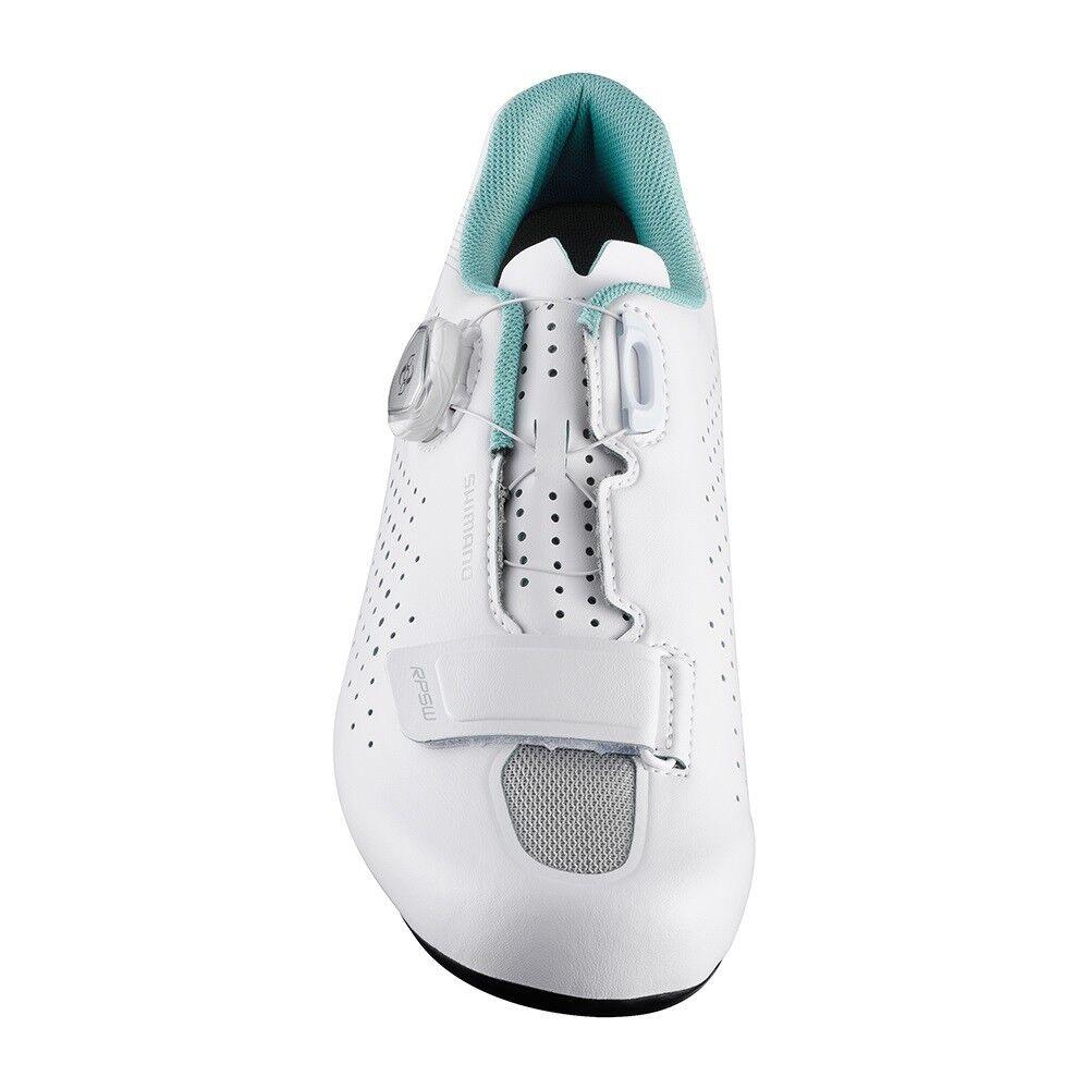 Shimano 2018 RP5 Damen Kohlenstoff Straßenrad Boa Straßenrad Kohlenstoff Fahrrad Schuhe Weiß - 40 (Us f4bc33