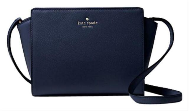Kate Spade Grand Street Hayden Leather Crossbody Navy Blue Wkru4639