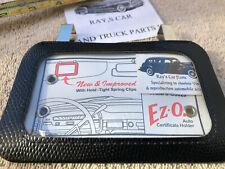 Universal Sun Visor Vintage Style Auto Certificate Registration Holder