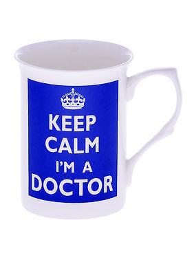 Bone China MEDICINE Keep calm im a doctor beaker, mug, cup- Kirsty Jayne China