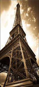 4 dimensions Affiche poster porte déco trompe l/'oeil Tour Eiffel réf 056