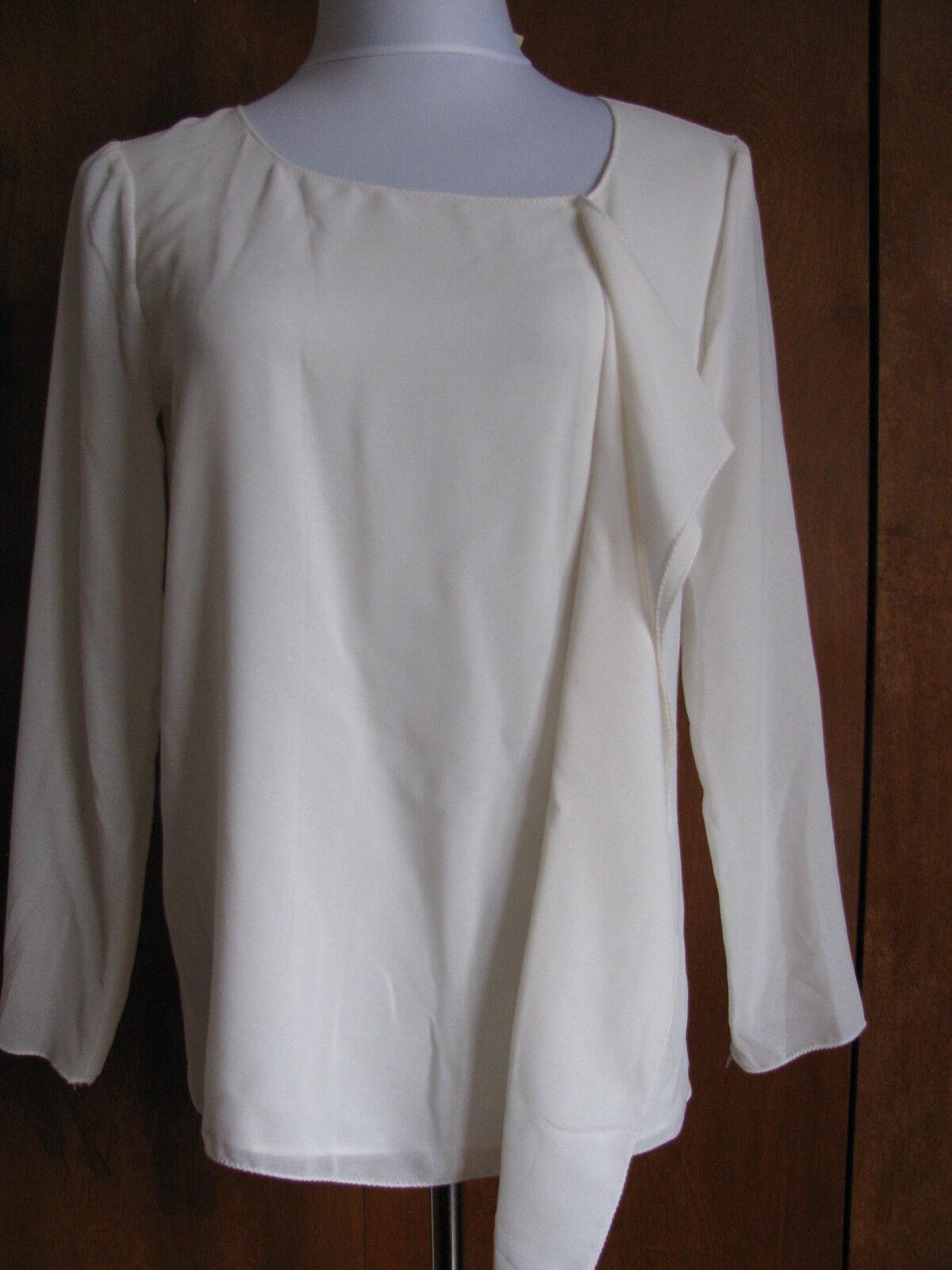 Max Studio damen ivory ruffle blouse top Größe  Petite Large NWT