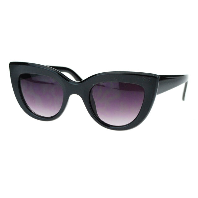 Womens Thick Plastic Frame Retro Style Cat Eye Sunglasses