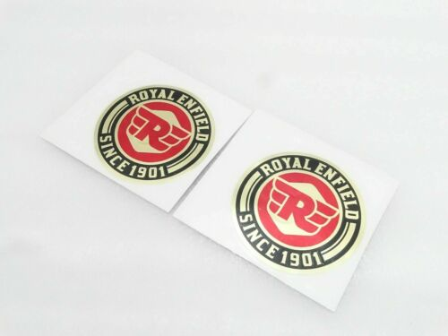 """Red /& Golden New Sticker Set//Pair /""""SINCE 1901/"""" SUITS RoyaL ENFIELD #RE310 @2X2"""