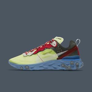 finest selection b7e03 e1fbf Image is loading Nike-React-Element-87-Undercover-Volt-Varsity-Red-