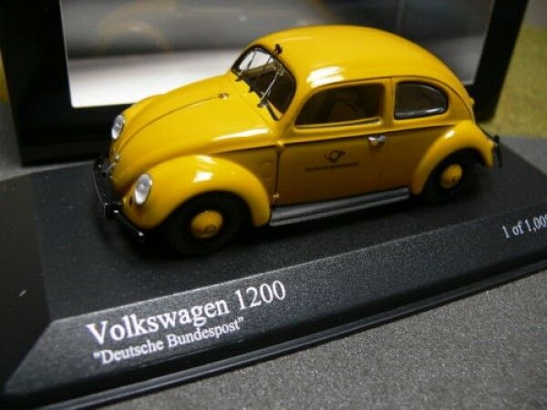 Minichamps VW Maggiolino 1200 EXPORT 1951 Deutsche Bundespost 431051292