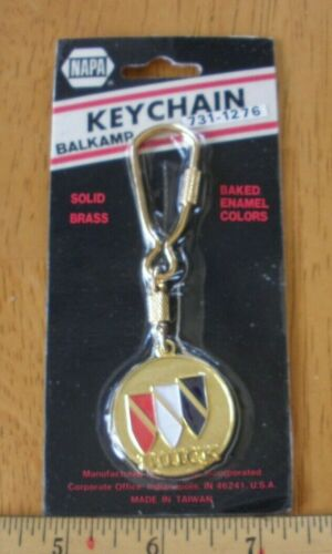 BUICK keychain solid brass early 1980s vintage NOS NAPA