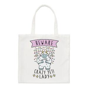Beware-Crazy-Yeti-Lady-Regular-Tote-Bag-Funny-Monster-Shoulder-Shopper