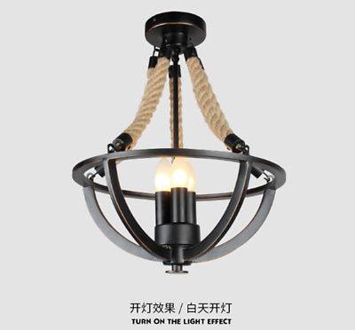 Semi Flush Mount Chandelier Black