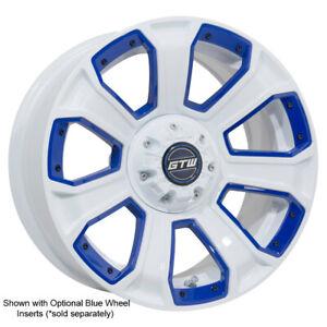 Set Of 4 14 Inch Gtw Nemesis White Golf Cart Aluminum Wheels 14x7 Ebay