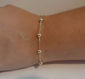 ITALIAN-LARIAT-8-BEADED-BRACELET-14K-YELLOW-GOLD-OVER-925-STERLING-SILVER