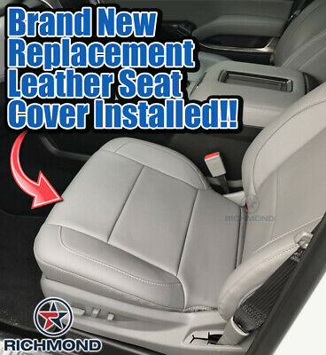 Richmond Auto Upholstery Driver Side Bottom Replacement Cloth Seat Cover Gray Compatible with 2007 2008 Chevy Silverado LS LT Z71