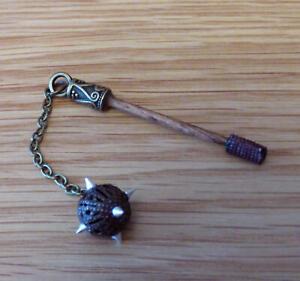 1-12-dolls-house-miniature-Handmade-Mace-Tudor-Medieval-Weapon-Axe-Spear-LGW