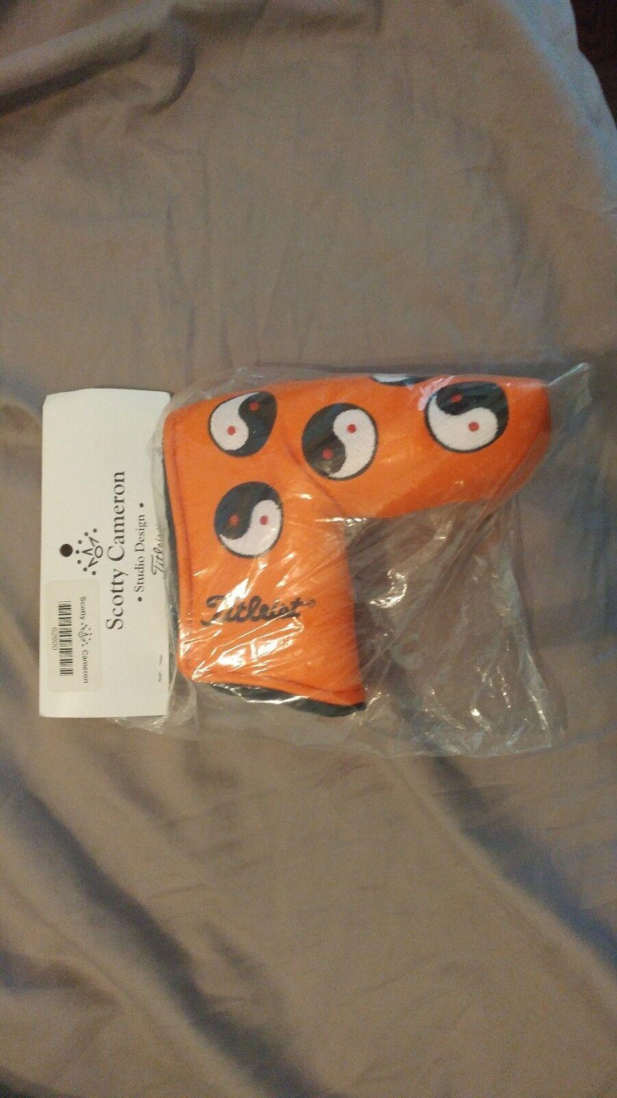 2005 Original Naranja Ying Yang Scotty Cameron Putter Cabeza Cubierta