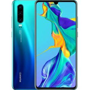 Huawei P30 128GB Aurora Blue 6GB RAM FullDisplay Octacore Android Smartphone NEU