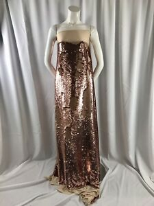 Sequins Fabric 2 Way Stretch Shiny Reversible Mermaid Champagne By The Yard