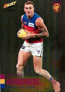New-2020-BRISBANE-LIONS-AFL-Card-MITCH-ROBINSON-Footy-Stars-Prestige