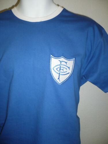 Retro chelsea années 50 brodé football t-shirt