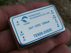 ONE Power Mate TEN06-24S05 DC-DC Converter 5Vout / 1200ma / 6W - New and Unused