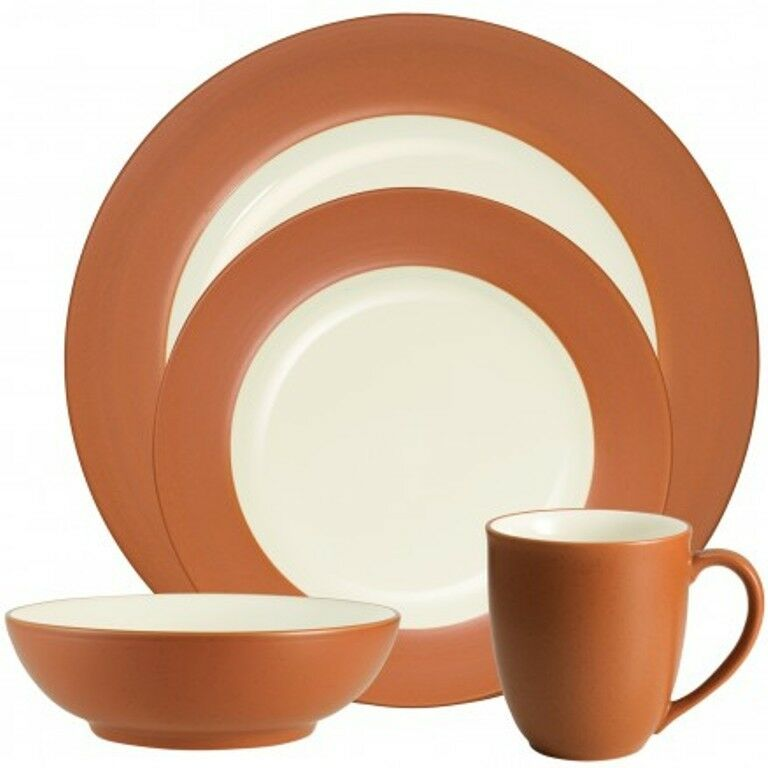 Noritake Couleurwave Terra Cotta jante 32Pc Dinnerware Set, service pour 8