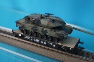 ROCO 66420 NS Four Axled Flat car with Leopard Tank NL