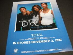 TOTAL-Kima-Keisha-amp-Pam-original-November-3-1998-PROMO-POSTER-AD-mint-condition