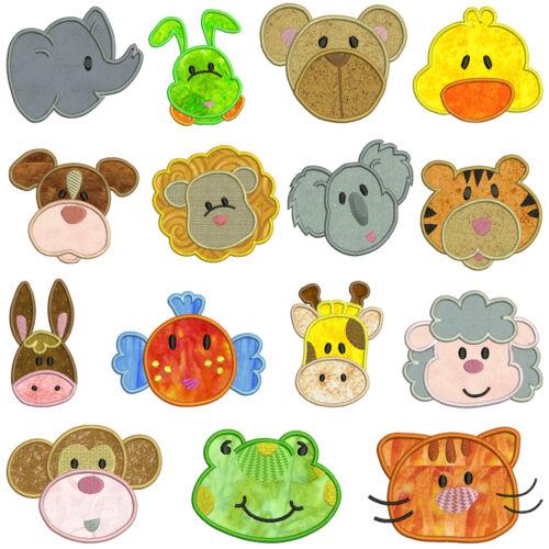 ANIMALS 15 Designs * Machine Applique Embroidery Patterns